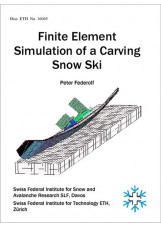 Finite element simulation of a carving snow ski