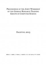 Proceedings of the Joint Workshop of the German Research Training Groups in Comp