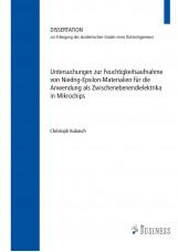 Untersuchungen zur Feuchtigkeitsaufnahme von Niedrig-Epsilon-Materialien für die