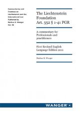The Liechtenstein Foundation Art. 552 § 1-41 PGR