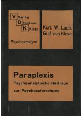 Paraplexis - psychoanalytische Beiträge zur Psychoseforschung