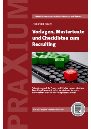 Vorlagen, Mustertexte und Checklisten für das Recruiting