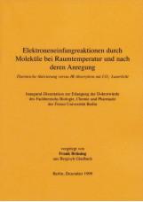 Elektroneneinfangreaktion durch Moleküle bei Raumtemperatur und nach deren Anreg