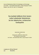 Das kardiale Kallikrein-Kinin-System isoliert arbeitender Rattenherzen bei der d